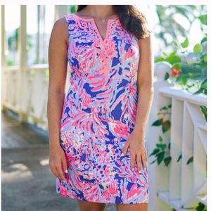 Lilly Pulitzer Lyssa Notch Neck Shift Dress Size 0
